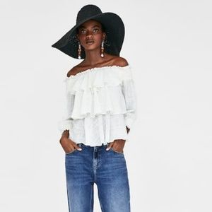 Zara ruffled top